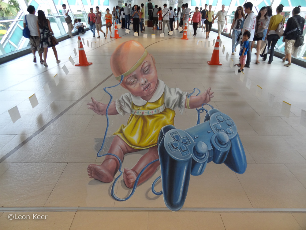 3d street art bangkok by leon keer 3d for 3d street painting mural art