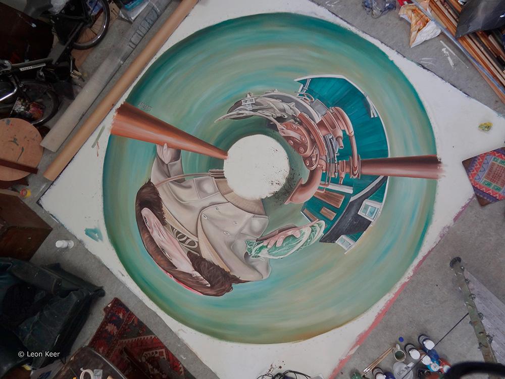 3d Escher Museum Cilinder Mirror 3d Street Painting