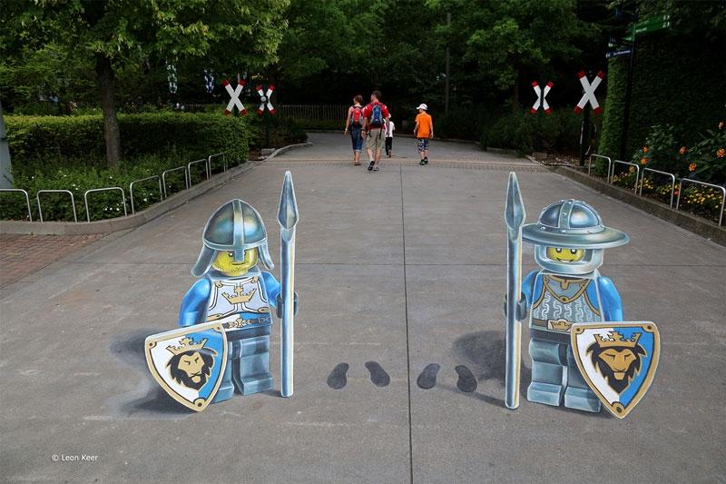 3d-straßenmahlerei-Legoland