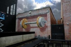3D mural Balance Deep Ellum