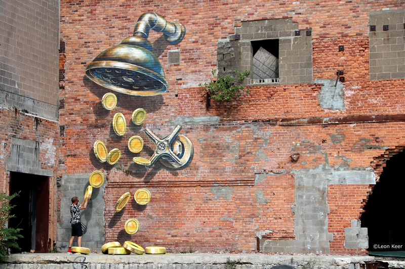 coin-shower-leonkeer-3d-mural