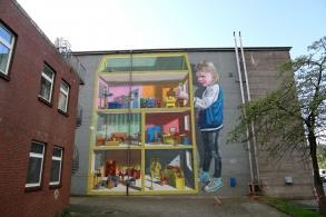 3D mural Hospital Dollhouse
