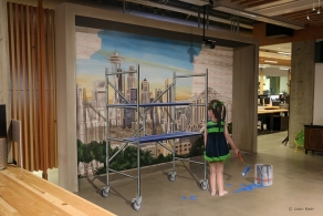 3D mural in Seattle