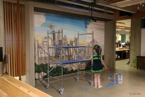 3D mural in Seattle