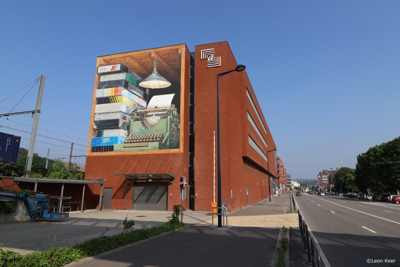 leonkeer-mural-3d-streetart-namur-typewriter