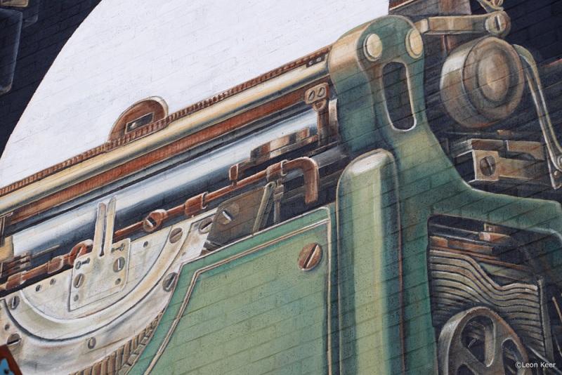 typewriter-namur-mural-3d-wallpainting