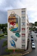 3D Mural 'Plastic Diet'