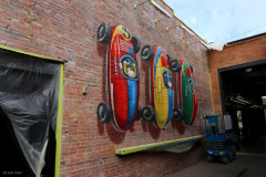 3D mural 'Pole Position' Deep Ellum Dallas