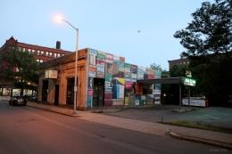 3D mural 'Shoe Boxes' Lynn