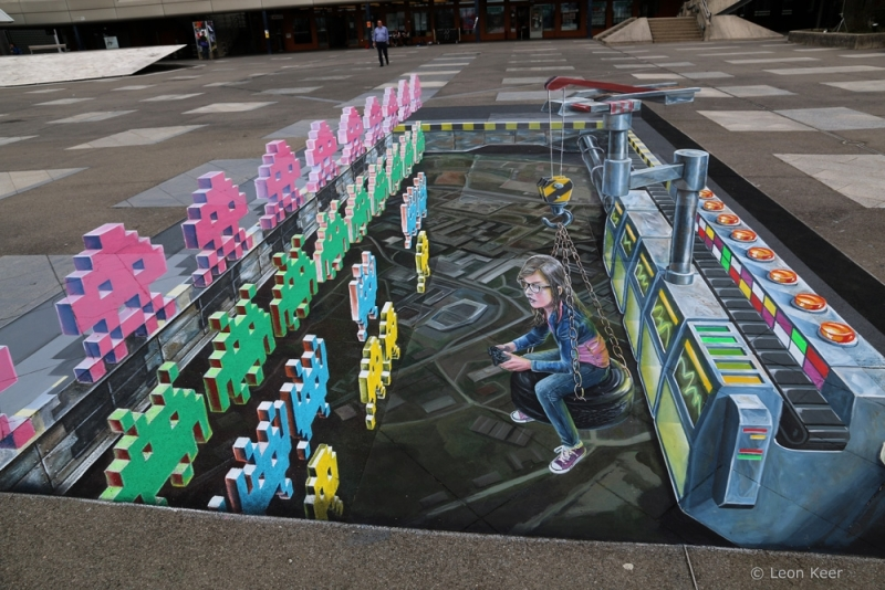 3d-street-painting-space-invaders