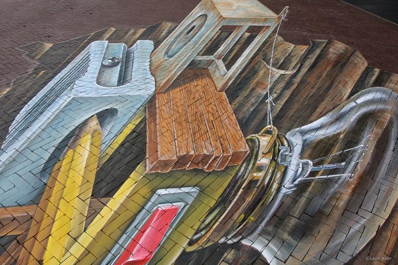 detail-leonkeer-3d-straattekening-friesmuseum