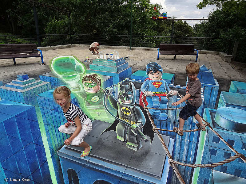3D Legoland Superheroes | 3D street painting street art by ...