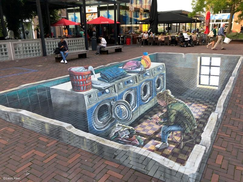 leonkeer-3d-streetart-delft-pieter-de-hooch