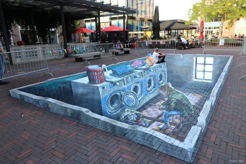 leonkeer-pieterdehooch-3d-painting-streetart-delft