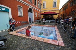 3D street painting Modena