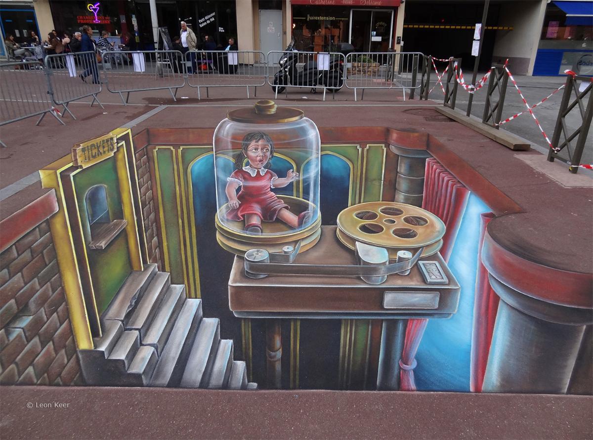 3d Streetart Zap Paris 3d Streetpainting 3d Street Art