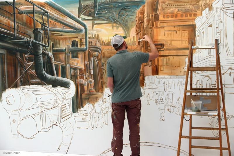 Leon-Keer-painting-Alita-Battle-Angel