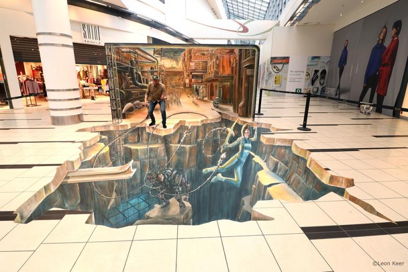 alita-3d-streetart-painting-floor-wall