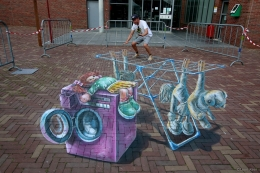 3D streetpainting Bodegraven