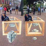 3D streetpainting Leeuwarden