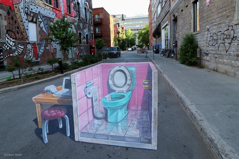 3d-streetpainting-by-leonkeer-Mural-montreal-fakenews