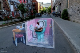 3D streetpainting Montreal