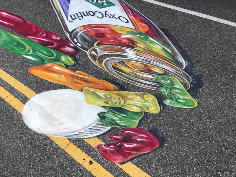 3d-gummybears-leonkeer-chalk-painting-sarasota