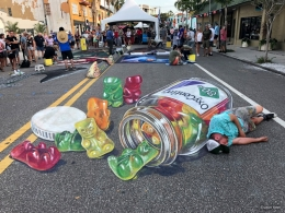 3D streetpainting Oxycontin