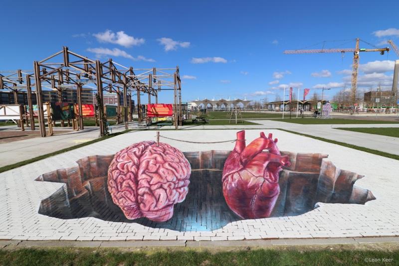 3dstreetpainting-leonkeer-berlijnplein-heart-mind-balance