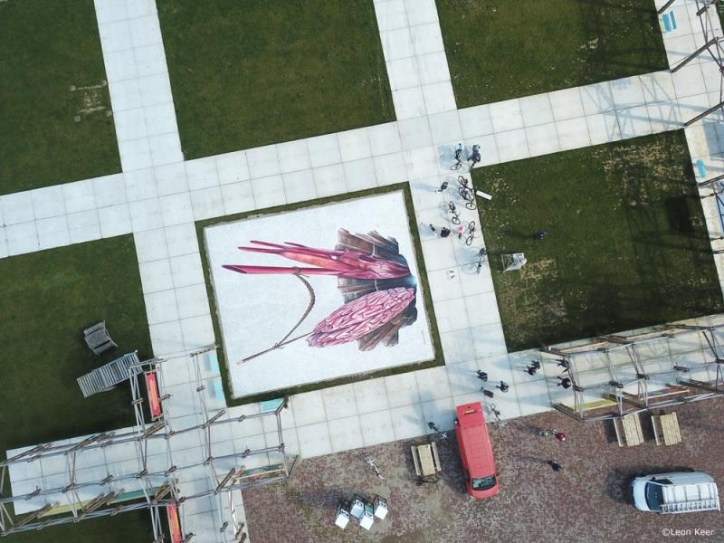 drone-3d-streetpainting-berlijnplein-art-leonkeer-utrecht