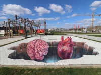 Sensibility-Sensitivity-3d-streetart-leonkeer-painting