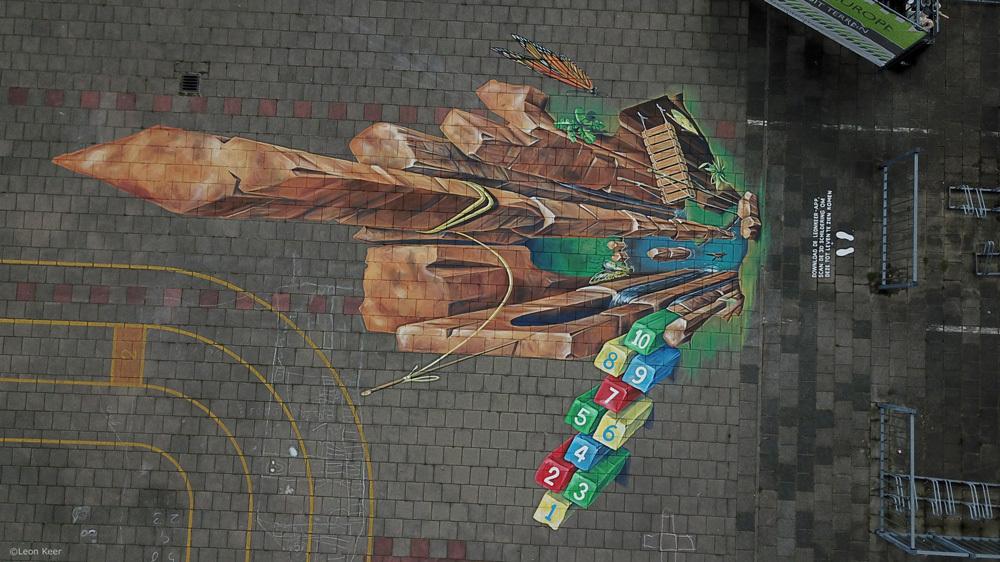 drone-leonkeer-3d-straatkunst-tilburg
