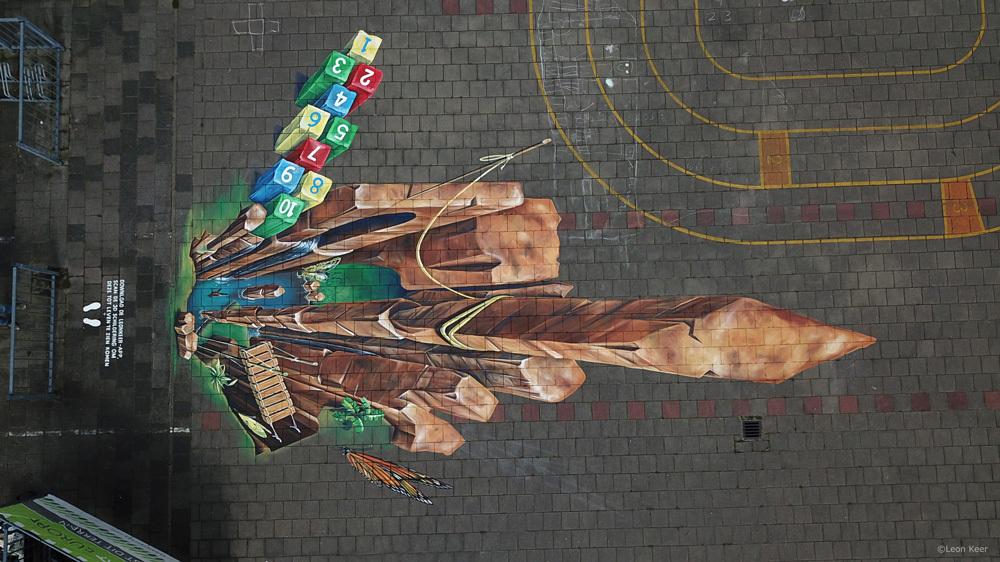 drone-leonkeer-3d-streetart-hinkelbaan