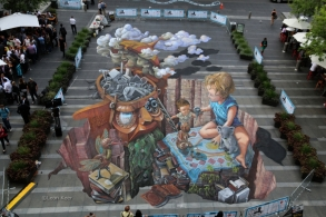 3d Sydney Chalk Urban Art