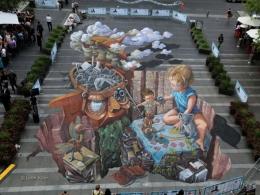 3d Sydney Chalk Urban Art