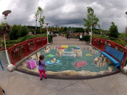 3D streetpainting Legoland