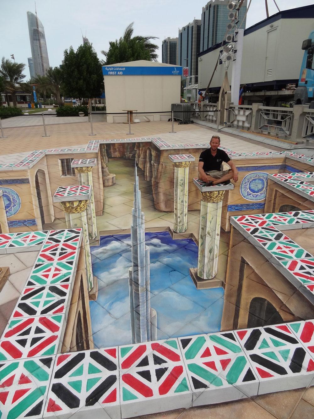 3D Street Painting United Arab Emirates, Abu Dhabi 2011