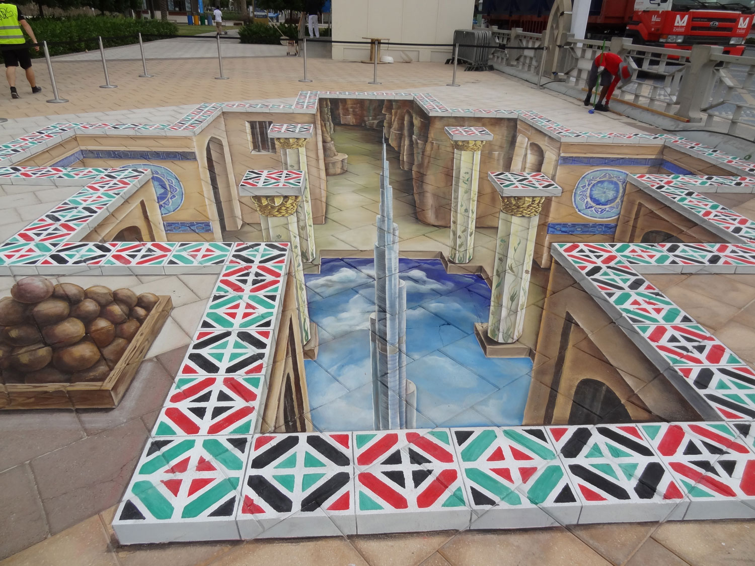 3d street painting united arab emirates abu dhabi 2011 for 3d street painting mural art