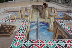 3D street painting United Arab Emirates, Abu Dhabi