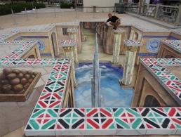 3D street painting United Arab Emirates, Abu Dhabi