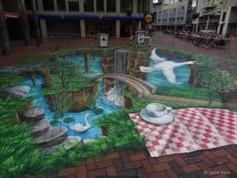 3D streetpainting Amsterdamse poort