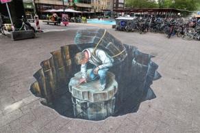 Anamorphic art at World Streetpainting Festival Arnhem