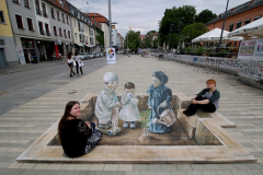 Anamorphic painting in Dresden
