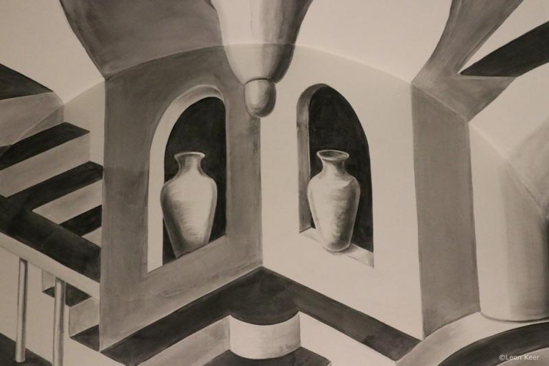 Convex-Concave-hol-en-bol-escher-3d-mural-leonkeer