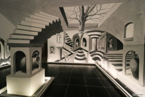 Anamorphic room Escher Princessehof