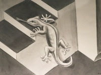 escher-salamander-Convex-Concave-mural-leonkeer