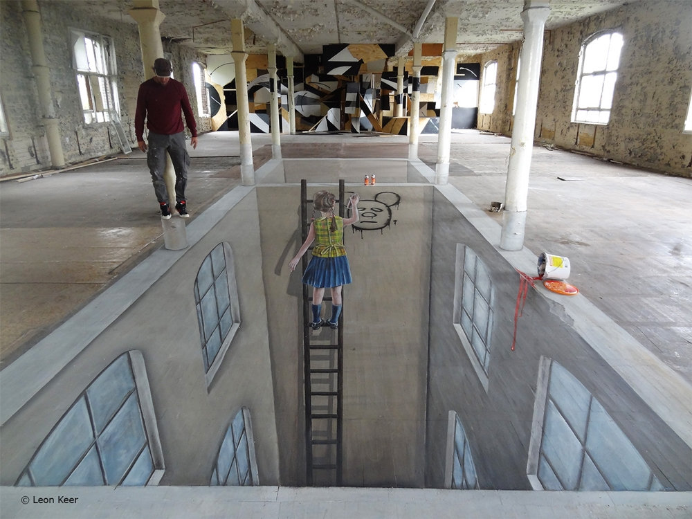 Cons space 002 berlin 3d streetart 3d street painting for 3d street painting mural art