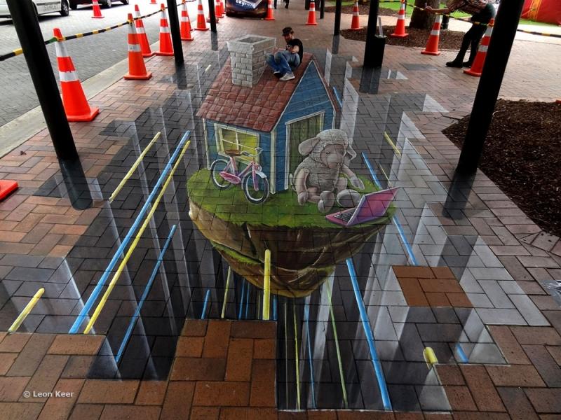 3d street art in Dunedin New Zealand   3D street painting ...   800 x 600 jpeg 423kB