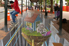 3d street art in Dunedin New Zealand