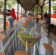 3d street art in Dunedin New Zealand